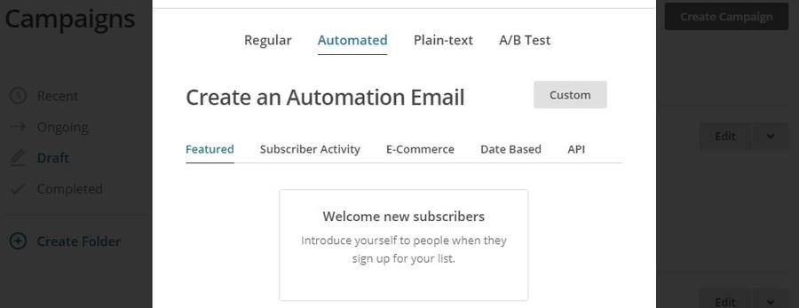 Автоматизируйте приветственное письмо и оно будет приходить вашим новым подписчикам без вашего участия.