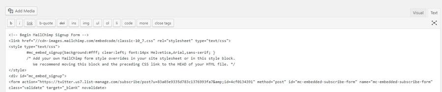 Как встроить форму на сайт в WordPress.