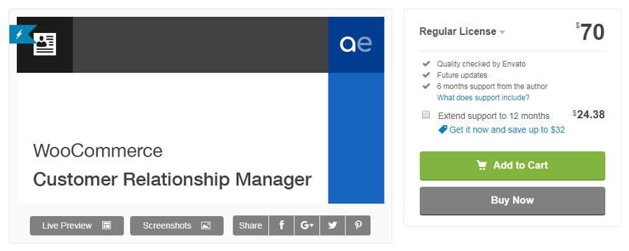 Плагин управления взаимоотношениями с клиентами WooCommerce.