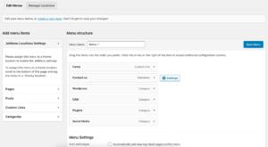 custom WordPress menus